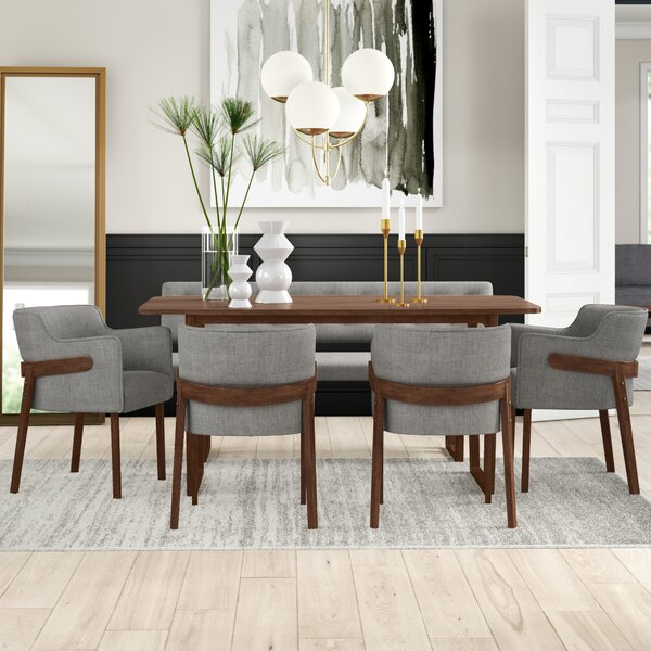 Mukai 6 Piece Dining Set by Mercury Row