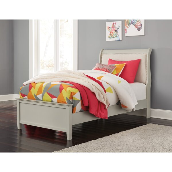 Linehan Upholstered Sleigh Headboard and Footboard by Charlton Home
