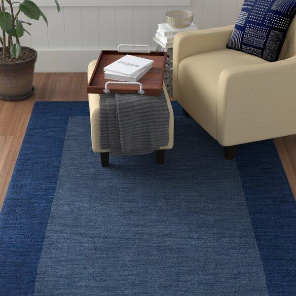 Allsopp Handmade Blue Area Rug by Winston Porter