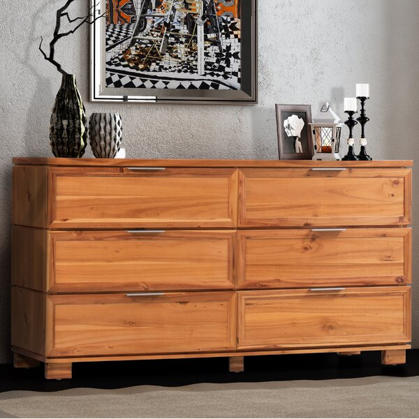 Ballenger 6 Drawer Double Dresser by Foundry Select