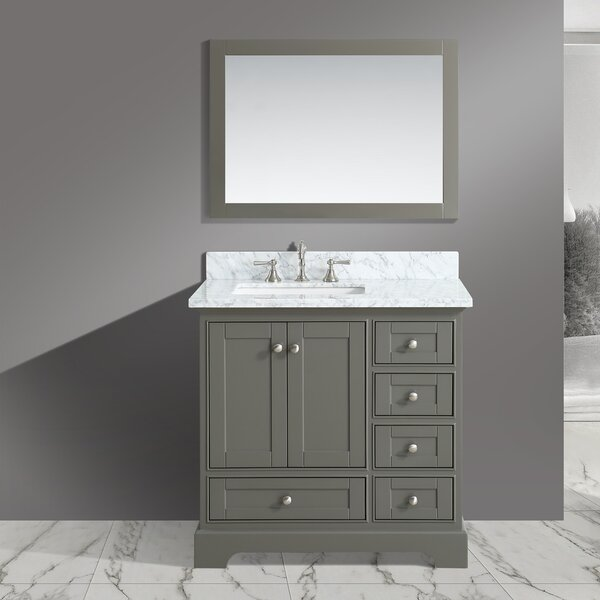 Castellanos 36 Single Bathroom Vanity Set with Mirror by Charlton Home