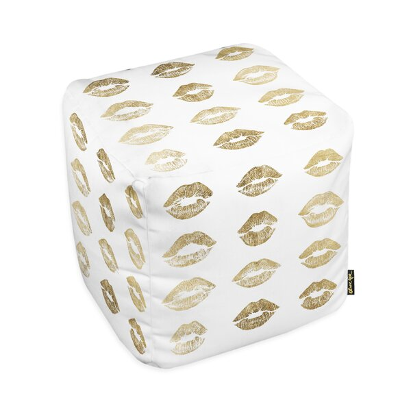 Oliver Gal Home Kisses Pouf by Oliver Gal