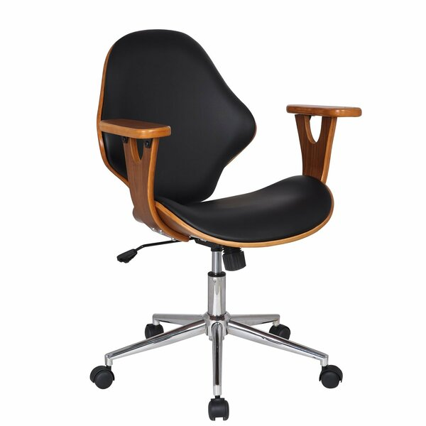 Bentwood Mid-Back Desk Chair by Adeco Trading