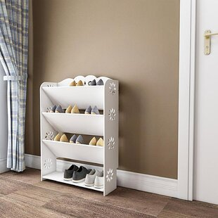 Read Reviews 4 Tier Shoe Rack By Rebrilliant