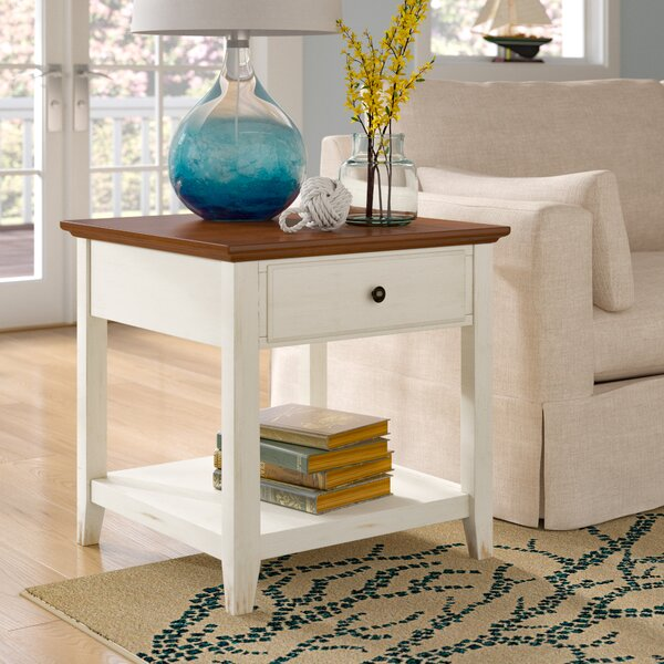 Willow End Table With Storage  by Beachcrest Home