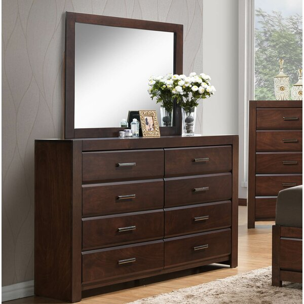 Quast 8 Drawer Double Dresser with Mirror by Gracie Oaks
