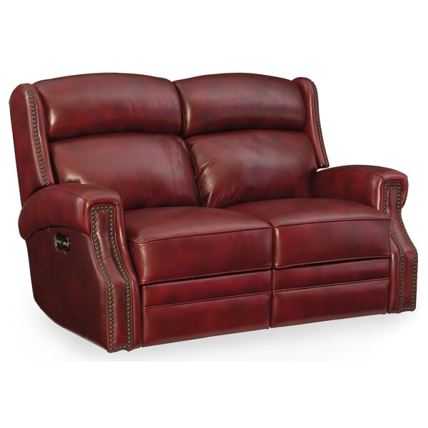 Skakli Leather Power Motion Loveseat With Power Headrest By Winston Porter