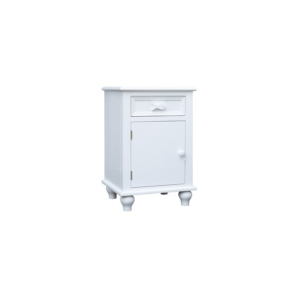 Eli 1 Drawer Nightstand by Breakwater Bay