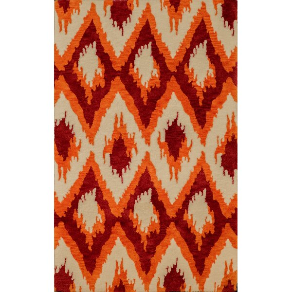 Pisano Cherrystone Red Area Rug by Bungalow Rose