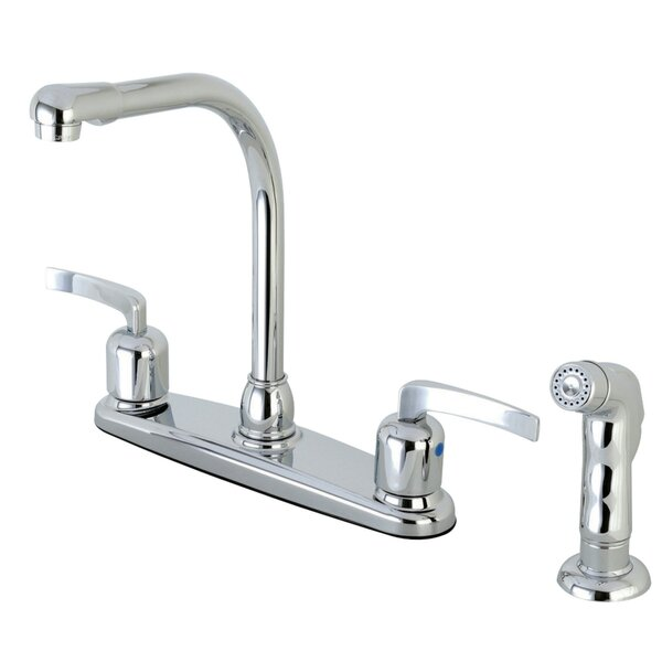 Centurion Double Handle Kitchen Faucet with Side Spray by Kingston Brass