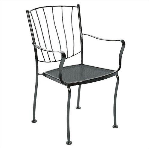 Aurora Stacking Patio Dining Chair by Woodard