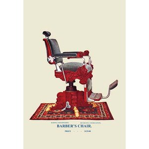 'Hydraulic Barber's Chair' Graphic Art Print on Canvas by Darby Home Co