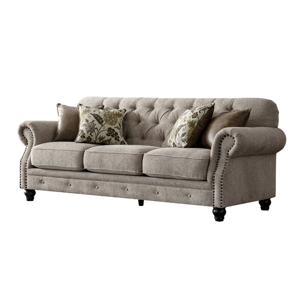 #1 Lathem Chesterfield Couch By Charlton Home Savings