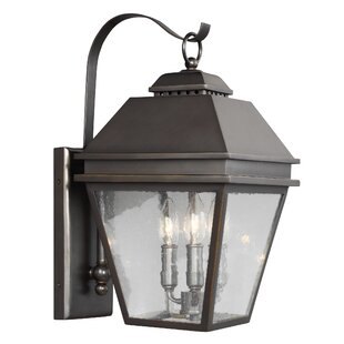 Affordable Price Daughtrey 3-Light Outdoor Wall Lantern By Three Posts