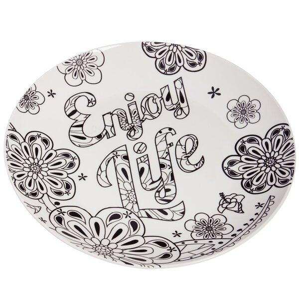 Chastain Botanical Enjoy Life Just Add Color Platter by Bungalow Rose