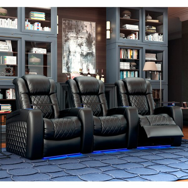 Continental HR Series Curved Home Theater Row Seating (Row Of 3) By Red Barrel Studio
