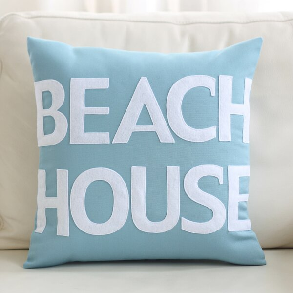 Beach House Outdoor Throw Pillow by Alexandra Ferguson