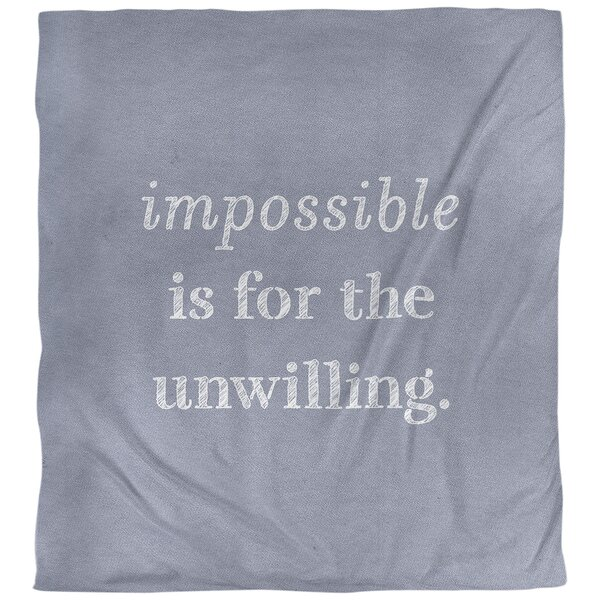 Quotes Handwritten Impossible Single Reversible Duvet Cover