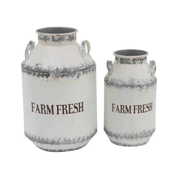 Audubon Farm Fresh 2 Piece Milk Can Set by Gracie Oaks