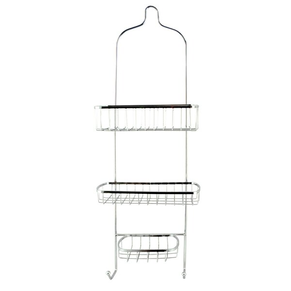 Ewing 2 Tier Chrome Shower Caddy by Rebrilliant