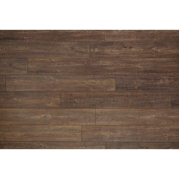 Restoration Wide Plank 8'' x 51'' x 12mm Oak Laminate Flooring in Nutmeg by Mannington