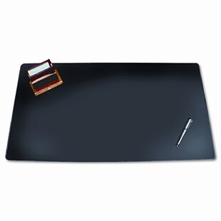 Reviews Desk Pad with Decorative Stitching by Rebrilliant