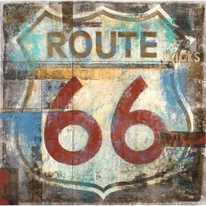 Route 66 by Michael Longo Painting Print on Wrapped Canvas by Portfolio Canvas Decor