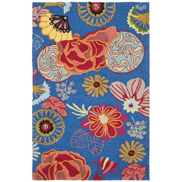 Hayes Hand-hooked Outdoor Area Rug by Ebern Designs