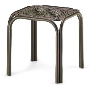 Square Cast Top Aluminum Side Table (Set of 4) by Telescope Casual
