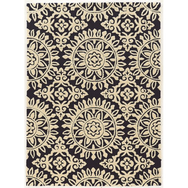 Coggins Hand-Tufted Navy/Cream Area Rug by Charlton Home