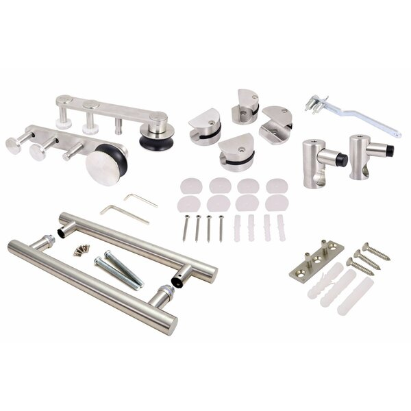 Modern European Barn Style Sliding Door Track and Hardware Set by Calhome