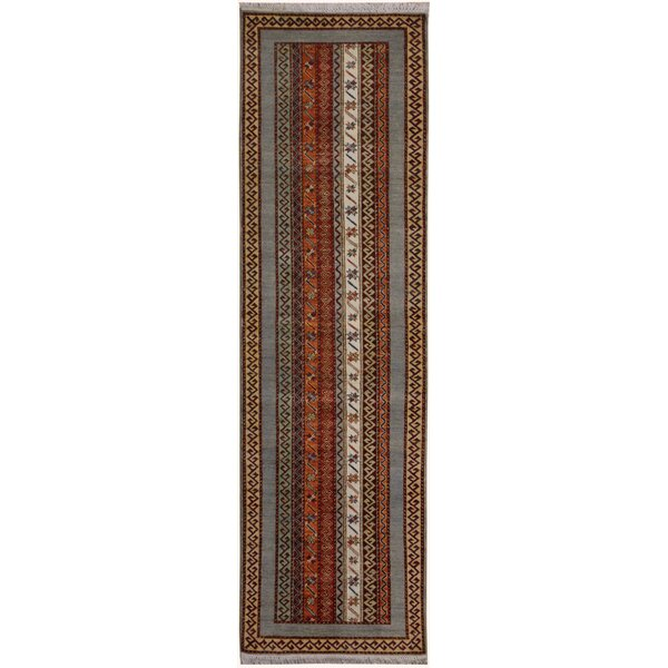 One-of-a-Kind Husby Hand-Knotted Wool Brown/Gray Area Rug by Bloomsbury Market