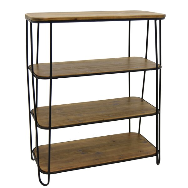 Cydnee Metal and Wood 3 Tier Etagere Bookcase by Brayden Studio