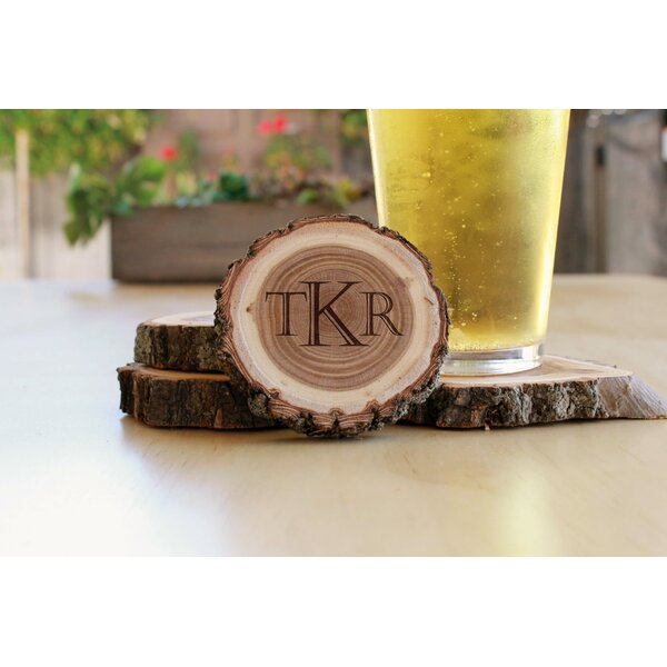 Round Wood Log 4 Piece Coaster Set by Millwood Pines