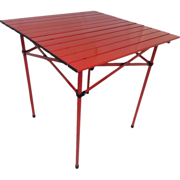 Bergerson Portable Dining Table in Red by Ebern Designs