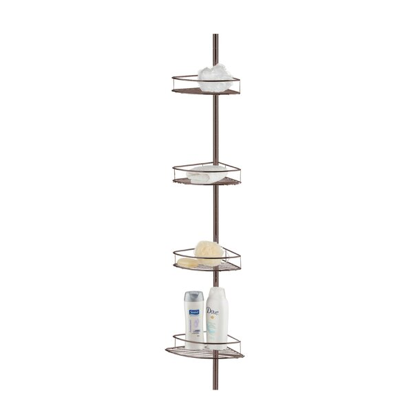 Banas Tension Pole Shower Caddy by Rebrilliant