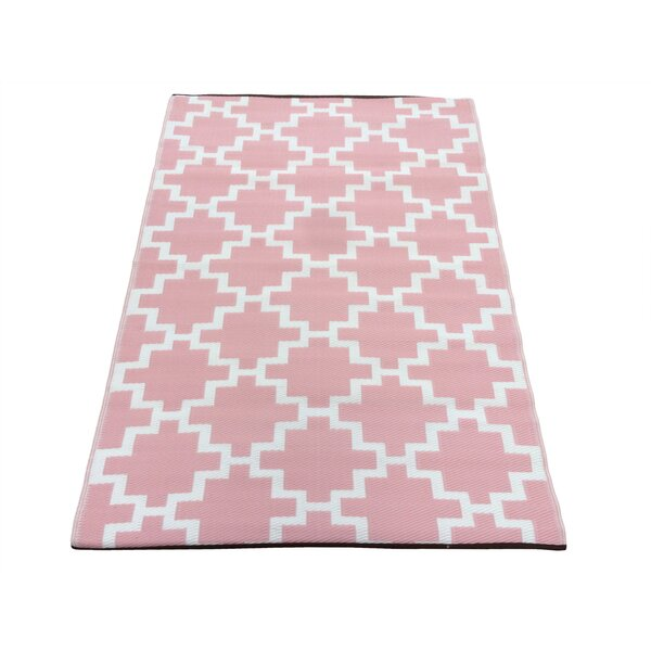 Solitude Pink/White Indoor/Outdoor Area Rug by Green Decore