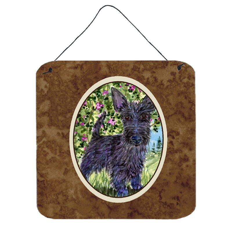 Scottish Terrier Painting Print Plaque