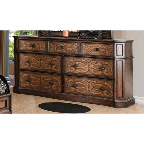 Ginsburg Eccentric 7 Drawer Double Dresser by Fleur De Lis Living