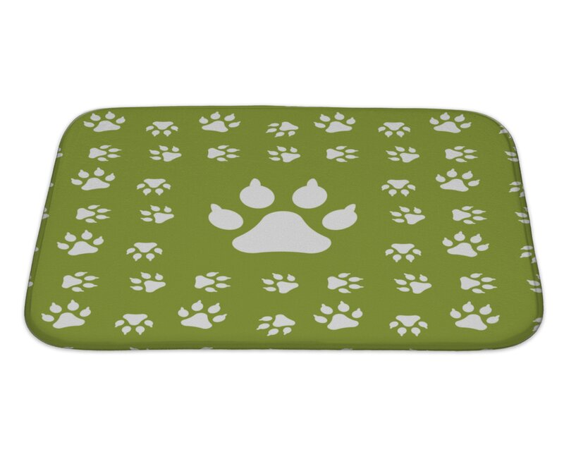 Capodanno Dog Paw Print Bath Rug