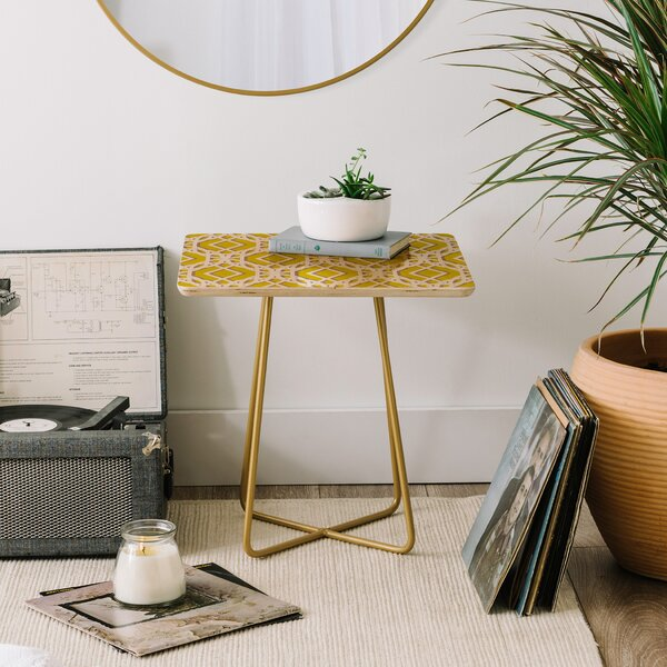Aimee St Hill Diamonds End Table by East Urban Home