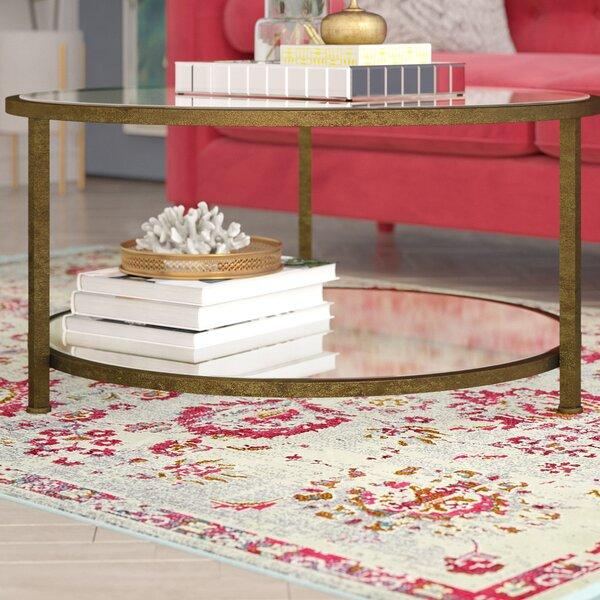 Benigna Coffee Table with Magazine Rack by Willa Arlo Interiors