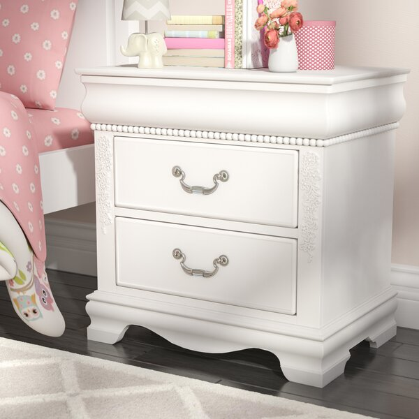 Weidler White 2 Drawer Nightstand by Viv + Rae
