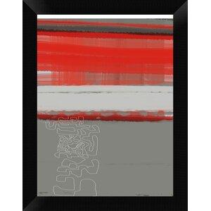 'Abstract Red 1' Framed Graphic Art Print on Canvas by Naxart