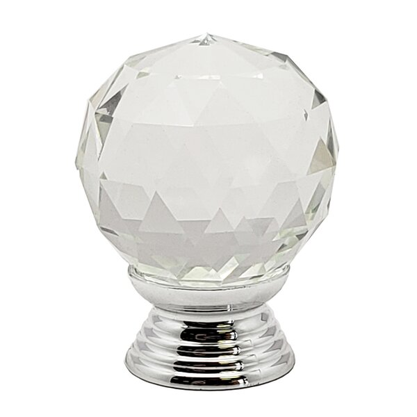 Round Glass Kitchen Cupboard Cabinet Door Drawer Crystal Knob Multipack (Set of 2) by Beauty Acrylic