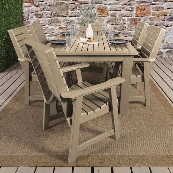 Fonso 7 Piece Dining Set by Longshore Tides