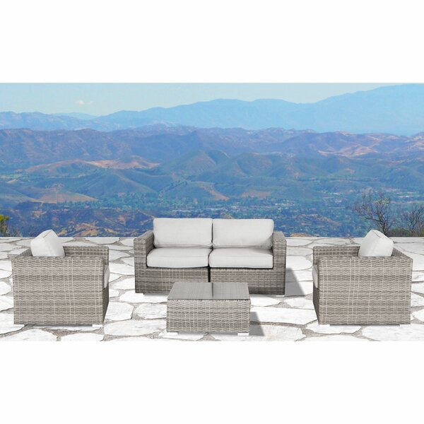 Eldora 5 Piece Rattan Sectional Seating Group with Cushions by Sol 72 Outdoor
