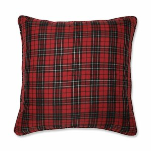 leevell holiday plaid throw pillow