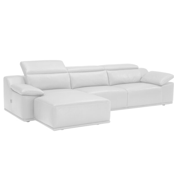 Isabella Leather Left Hand Facing Sectional