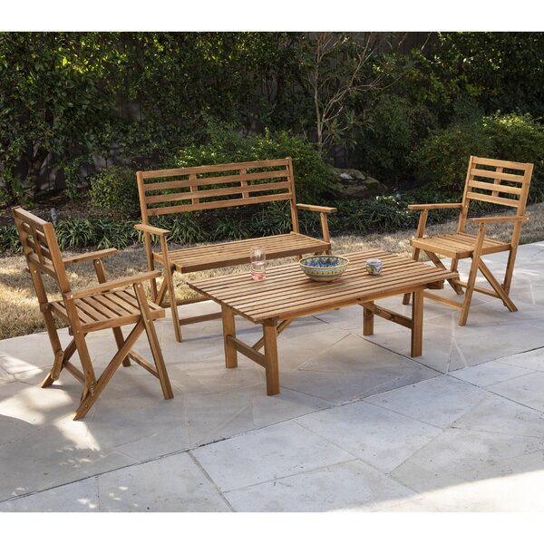Ballidon Outdoor 4 Piece Multiple Chairs Seating Group (Set of 4) by Highland Dunes Highland Dunes